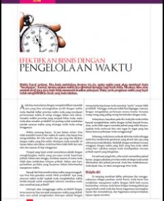 Efektifkan Bisnis Dengan Pengelolaan Waktu