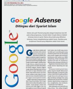 Google Adsense Ditinjau Dari Syariat Islam