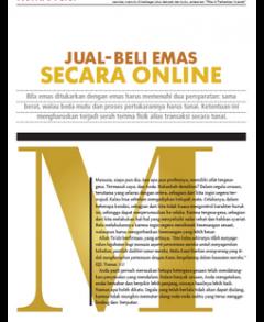 Jual Beli Emas Secara Online