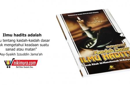 Buku Islam Kaedah Dasar Ilmu Hadits