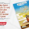 Buku Tulis Spiral Semangat Untuk Menuntut Ilmu Syar'i (Kode F16)
