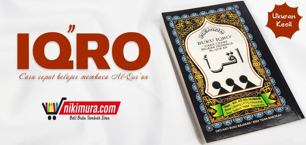 buku iqro' cara cepat belajar membaca al-qur'an (ukuran kecil)